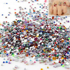 1.5/2mm lots Nail Art Mixed Shape Rhinestones Acrylic Decoration Flat back Gems