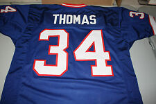 BUFFALO BILLS THURMAN THOMAS #34 CUSTOM THROWBACK HOME JERSEY SIZE LARGE