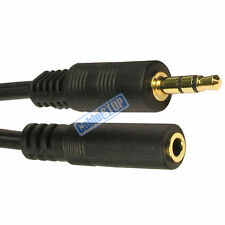 10 METRES 3.5mm JACK HEADPHONE EXTENSION CABLE LEAD GOLD AUDIO CABLE 10M