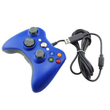 USB Wired GamePad Joypad Controller For Microsoft Xbox 360 Slim PC windows blue
