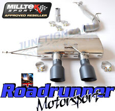 "Milltek SSXVW217 Golf R MK6 Exhaust 3"" Race System Cat Back Non Res No Valve Blk"