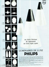 PUBLICITE ADVERTISING 096  1962  les  luminaires de luxe Philips