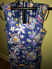 NWT DISNEY POSTCARD MICKEY & PALS CRUISE DRESS ADULT SIZE MED **LAST ONE!!**