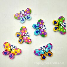 popular 50pcs 20x30mm butterfly Mixed 2 Holes Wood Buttons Sewing Scrapbooking
