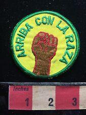 Old School ARRIBA CON LA RAZA Patch (? Power To The People ?) 72Y7