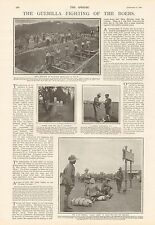 1900-ANTIQUE PRINT-THE GUERILLA FIGHTING OF THE BOERS