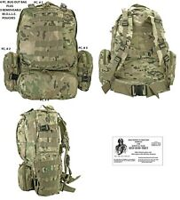 4PC - C.P.CAMO MOLLE Backpack Bug Out Bag / Tactical / Military / Survival Gear