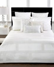 NEW Hotel Collection Frame White Full / Queen Comforter $350 A076