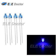100pcs 2mm Diffused Blue-Blue Light DIP Round Top LED Diodes 8000Mcd