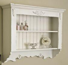 Ornato bianco dipinto mensola unità vintage per la casa shabby chic bagno cucina
