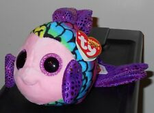 """Ty Beanie Boos ~ FLIPPY the 6"""" Fish ~Stuffed Plush Toy (NEW) 2017 Design IN HAND"""