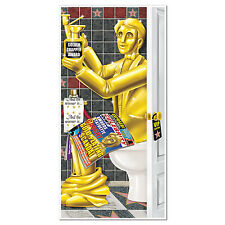 HOLLYWOOD Novelty RESTROOM Bathroom DOOR COVER Oscar Party Prop Decoration