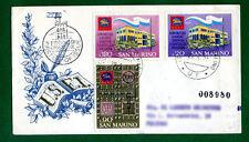 REPUBBLICA DI SAN MARINO F D C  RODIA 1971 UNIONE STAMPA FILATELICA  VIAGGIATA