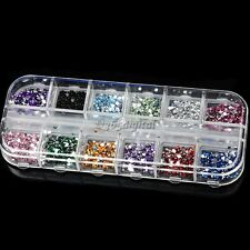 3000pcs Crystal Nail Art  Rhinestones Gems Glitter for Acrylic Tips UV Gel 35DI