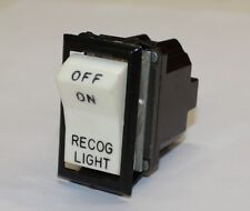 "2 Aircraft Instrument Panel Light Switches, ""OFF ON and RECOG LIGHT""  You Get 2!"