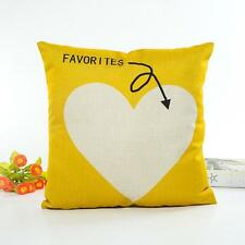 Soft Pillow Case Sofa Waist Throw Letter Love Pattern Cushion Cover Home Decor L