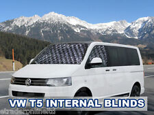 VW T5 Transporter Screen Curtains, Campervan Cab Window Blinds, 3 Piece Set Silv