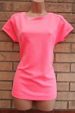 NEXT ELEGANT NEON PINK  RARE T SHIRT CASUAL BLOUSE T SHIRT TUNIC TOP 10 S