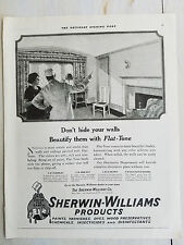 1920 Vintage Sherwin Williams  Paint Varnish Don't Hide Walls Beautify Them  Ad