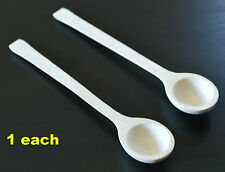 Wooden spoon for sugar salt spices coffe small little mini scoop - 1 each