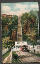 Canada 1907 post card train track Montreal elevators to Charles Maurais Salem MA