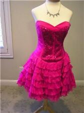 NWT $429 Betsey Johnson SILK prom party  evening occasion corset dress 4
