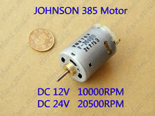 DC12V 24V 20500RPM High Speed Large Torque JOHNSON 385 Motor for Electric tools