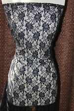 """Black stretch sheer floral flowers Lace sewing lingerie fabric 60"""" wide"""
