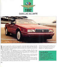 1992 Cadillac Allante Indy Pace Car Convertible Article - Must See!!