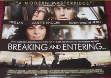 Cinema Poster: BREAKING AND ENTERING 2006 (Quad) Jude Law