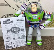 "THINKWAY TOYS SPEAKING BUZZ LIGHTYEAR WITH UTILITY / GRAVITY BELT 12"" TALL RARE"