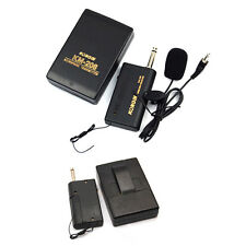 Remote Wireless Microphone Headset Stage Mic System Receiver Lavalier Clip NEW