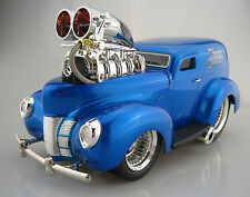 1940 FORD SEDAN DELIVERY Hot Rod DRAGSTER * Muscle mashines * 1:18 * OVP * NUOVO