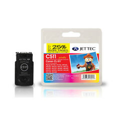 JET TEC C511 HIGH QUALITY REMANUFACTURED CANON CL-511 TRI-COLOUR INK CARTRIDGE
