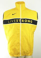NIKE D17 Mens Yellow Livestrong Lance Armstrong Full Zip Cycling Vest Italy XL