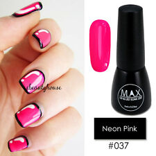 MAX 7ml Nail Art Color UV LED Soak Off Gel Polish #037-Neon Pink