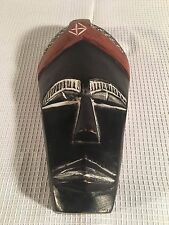 Primitive African Tribal Wooden Elongated Face Mask Hand Crafted