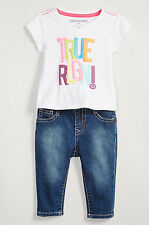 NEW AUTHENTIC TRUE RELIGION KIDS GLITTER TEE TSHIRT JEAN BABY GIRLS GIFT SET 12M