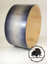 "Solid Stave Blue Burst Satin Maple Snare Drum Shell 14"", Satin Finish, Edged"