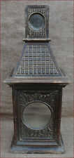 French Black Forest Hand Carved Watch Alarm Clock Holder Stand Bell Tower 1900