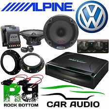 Volkswagen T6 ALPINE Under Seat Active Subwoofer & 560W Door Upgrade Speaker Kit