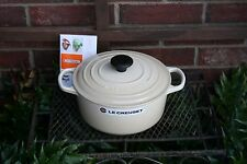 Le Creuset  Dune Round COCOTTE  Dutch Oven 4-1/2 quart Cast Iron  cream RARE NEW