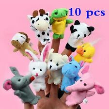 10 Pcs Plush Finger Animal Puppet Cloth Play Learn Story Educational Hand Toy