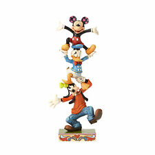 Jim Shore Disney Tradition Goofy Donald and Mickey Stack Teetering Tower 4055412