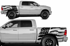 Vinyl Decal FLAG Wrap Kit for Dodge Ram Truck 1500/2500 2009-2014 SHORTBOX Black