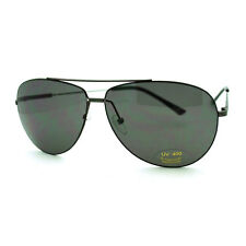 Men's Wire Rim Sniper Light Weight Aviator Sunglasses - Gunmetal