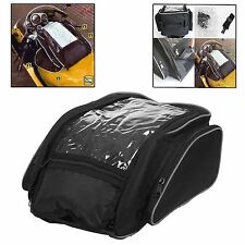 Large Magnetic Motorbike Motorcycle Tank Bag With Map Window Carry Handle Strap
