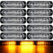 10x 12/24v AMBER CREE 6-LED FLASHING STROBE RECOVERY Emergency Breakdown Light