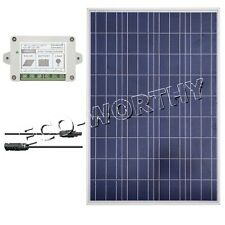 100W Solar Panel Bundle Kit:100W Solar Cell For 12V Home Camping Battery Charger