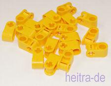 LEGO technique - 20 connecteur/90 degrés/trou achsloch jaune/6536 article neuf